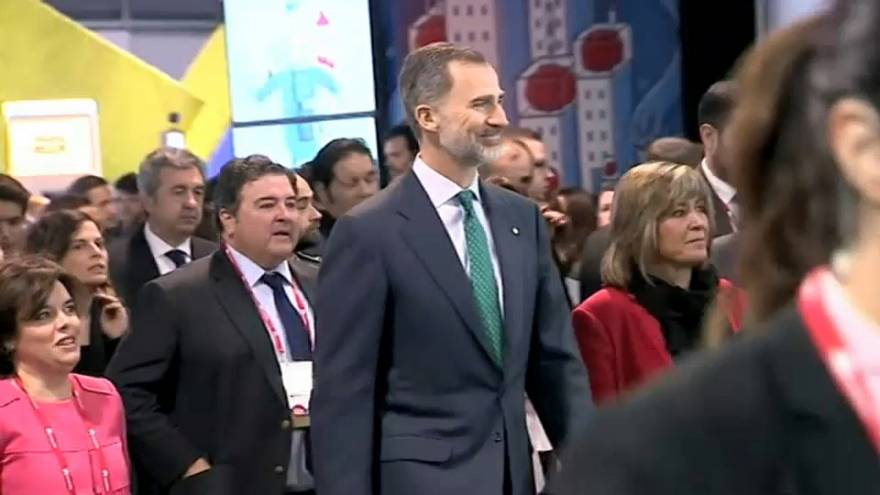 Felipe VI inaugura el Mobile World Congress de Barcelona