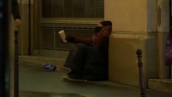 Sem-abrigo em Bruxelas
