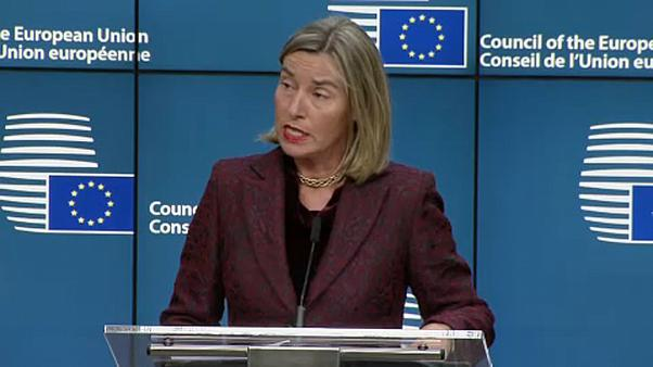 Federica Mogherini nach dem Treffen der EU-Außenminister