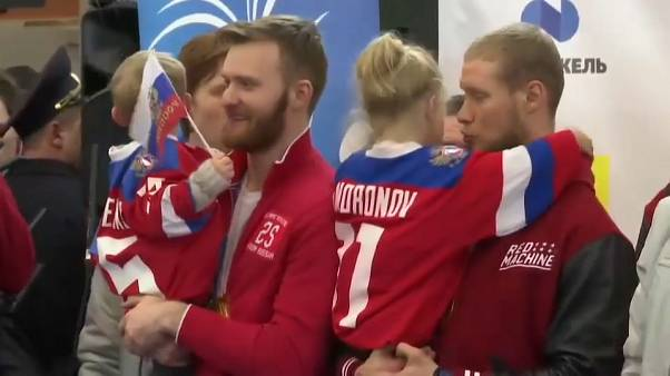 """Встреча олимпийцев в """"Шереметьево"""""""