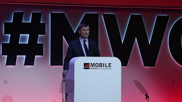 Andrus Ansip falou no WMC2018 como líder do Mercado Único Digital
