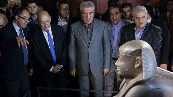 «موزۀ لوور در تهران» با حضور وزیر خارجه فرانسه افتتاح شد