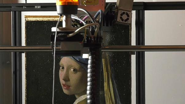 """Vermeers """"Mädchen mit dem Perlenohrring"""" wird gescannt"""