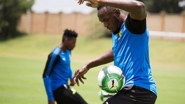 Bolt si dà al calcio, ma per l'Unicef