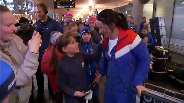 La vuelta de los héroes olímpicos a casa