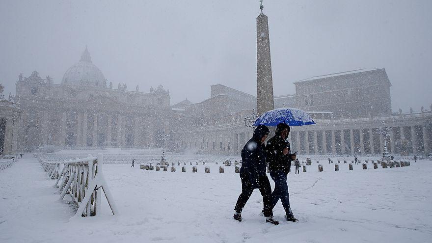 Rendkívüli hideg Európában