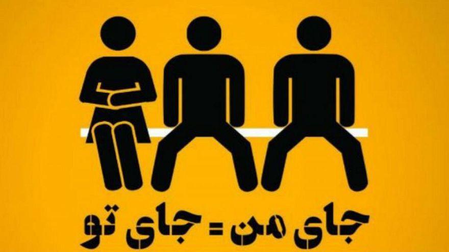 İran'da erkeklerin yayılarak oturmasına karşı kampanya