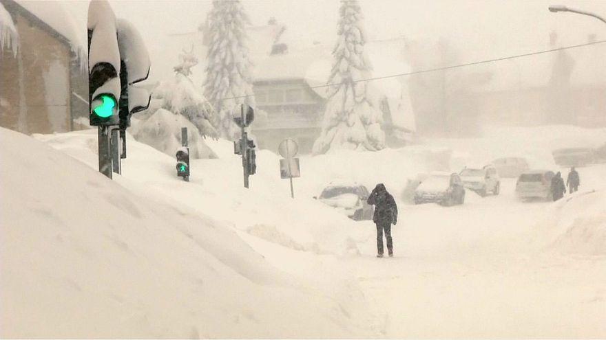 Record snowfall in Croatia, sub-zero temperatures on the Adriatic coast