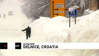 La ola de frío atraviesa Croacia