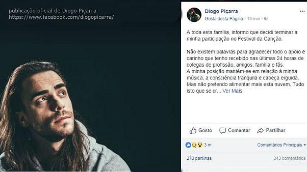 Diogo Piçarra desiste e Susana Travassos é repescada no Festival da Canção