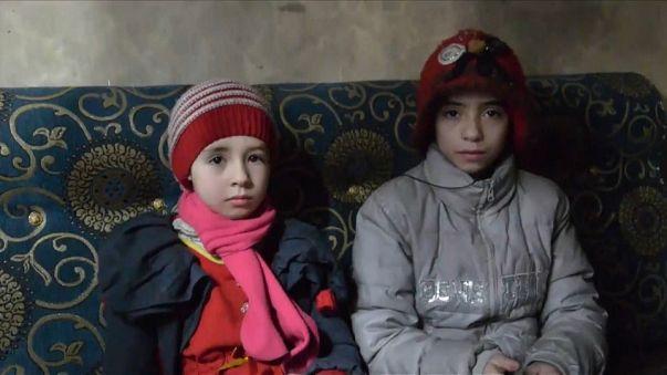 Noor et Alaa,  petites soeurs piégées dans l'enfer de la Ghouta