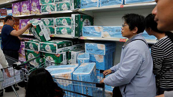 Tayvan'da tuvalet kağıdı krizi