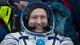 Alexander Misurkin of Russia returning to Earth, Feb. 28