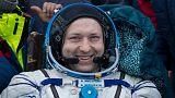 Alexander Misurkin of Russia returning to Earth, Feb. 28