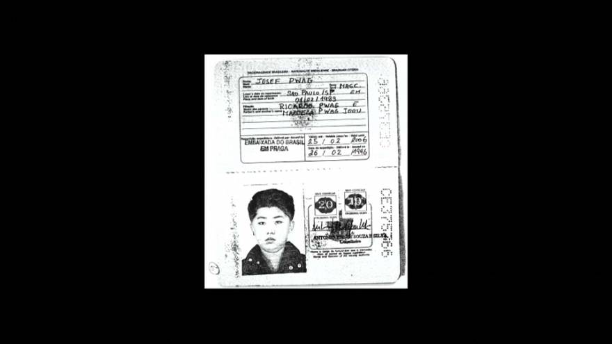 Photocopy of Brazilian passport used by North Korean leader Kim Jong Un