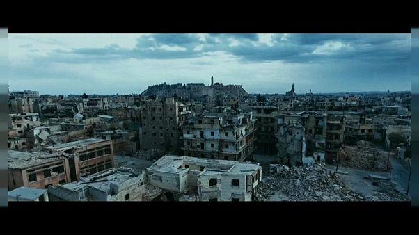 مشهد من الدمار الذي طال مدينة حلب في سوريا