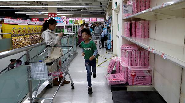Panic buying 'toilet paper frenzy' in Taiwan