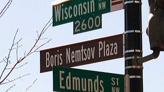 Washington: Nemzow-Platz vor russischer Botschaft eingeweiht