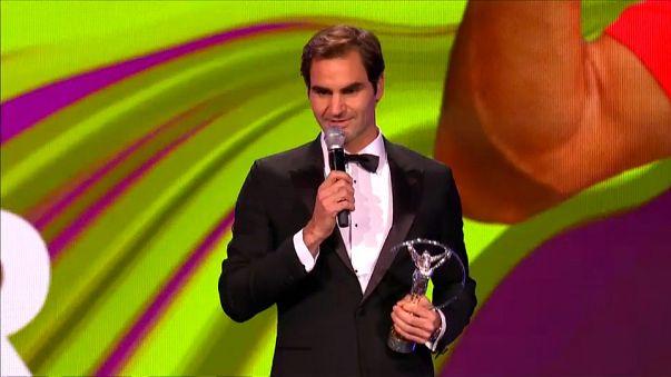 Federer wins Laureus Sportsman of the Year award