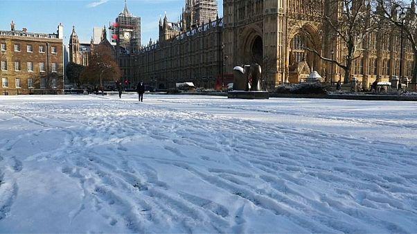 Snowfall in the UK capital