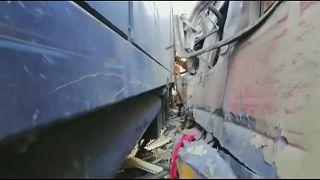 Colisão mortífera entre comboios no Egito