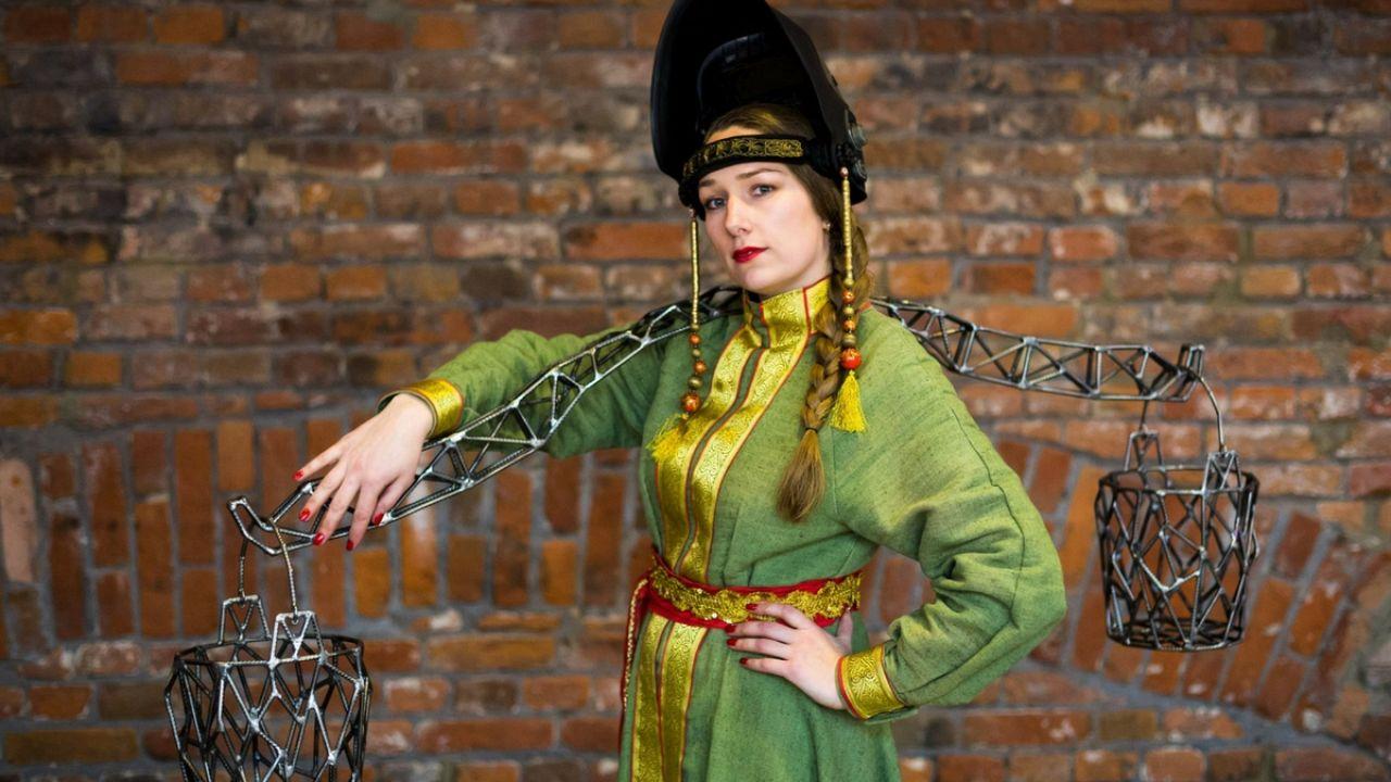 Russian artist 'Weld Queen' creates interactive sculptures