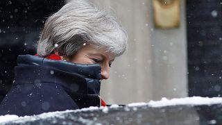 Premierministerin May vor 10 Downing Street am Mittwoch