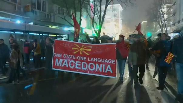 Rally against name change proposals in Macedonian capital Skopje