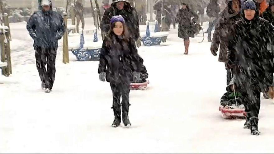 Сан-Себастьян: снег на пляже