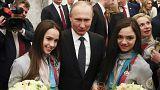 مراسم تقدیر از ورشکاران روس شرکت کننده در بازیهای المپیک زمستانی پیونگ چانگ