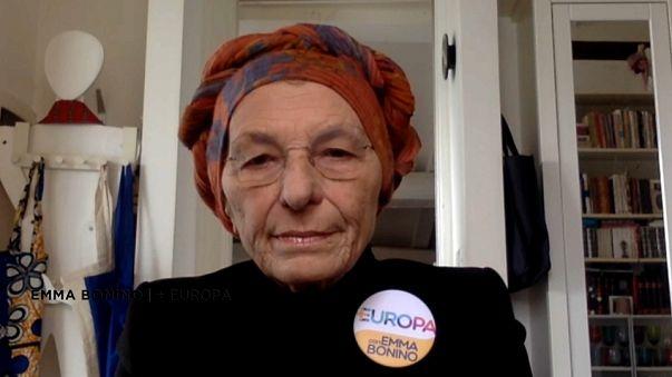 Emma Bonino in collegamento Skype
