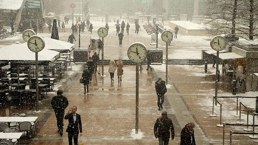 Снежный коллапс в Лондоне
