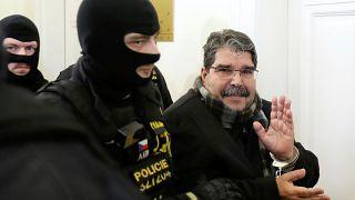 Salih Muslim bei seiner Freilassung in Prag am Dienstag