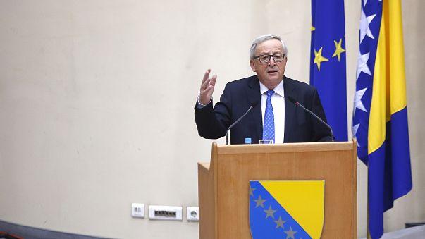 AB Komisyonu Başkanı Juncker Balkan turu kapsamında Kosova'da