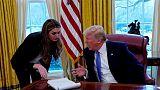 مديرة الاتصالات في البيت الأبيض هوب هيكس تستقيل