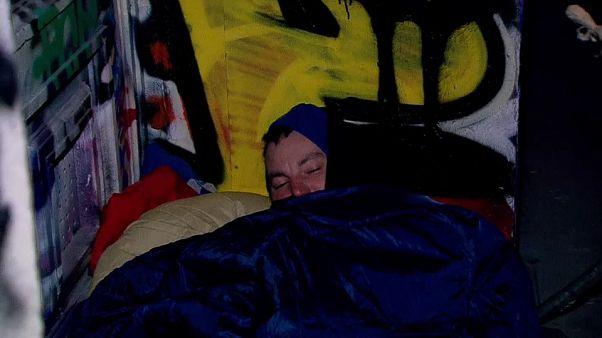 'Homeless' cold patrol in Belgium