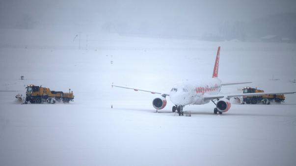 Geneva Airport resumes partial operations after snow forced closure