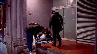 """Brüsseler """"Kälte-Brigade"""" hilft Menschen auf der Straße"""