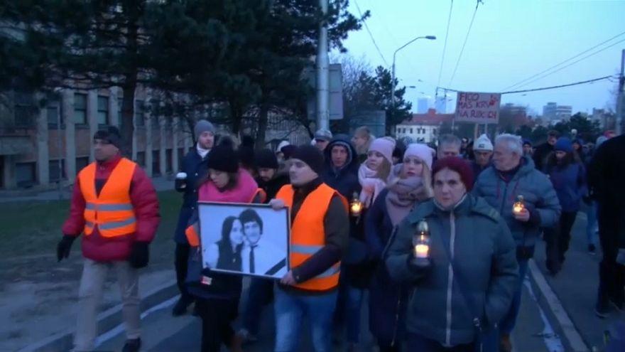Slovak gazeteci cinayetine tepkiler dinmiyor