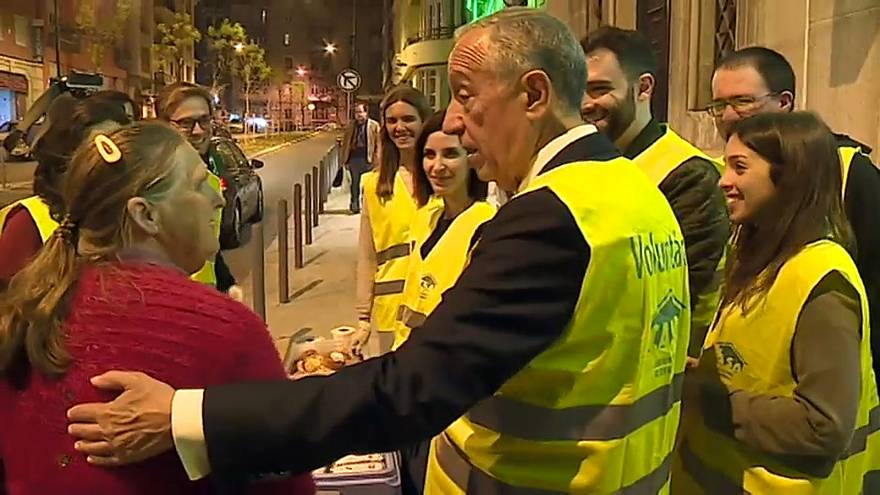 Marcelo Rebelo de Sousa assume os sem-abrigo como prioridade de mandato