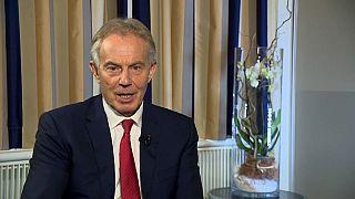 Tony Blair im Interview mit Euronews