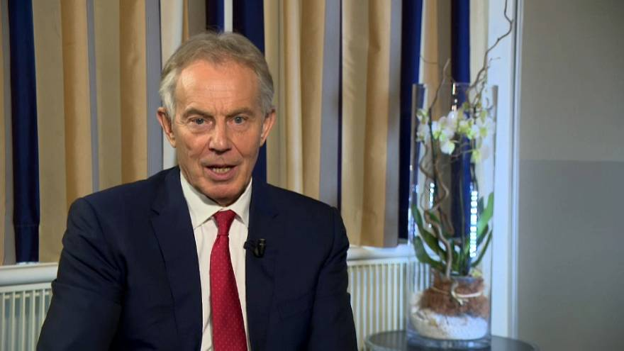 Tony Blair im Interview mit Euronews
