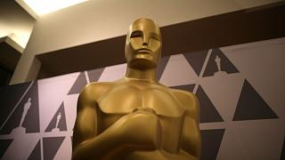 Oscar statue is seen in a souvenir shop at the Dolby Theatre