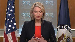 شاهد: كيف سخرت المتحدثة باسم الخارجية الأمريكية من المقترح الروسي بفتح ممرات إنسانية في الغوطة