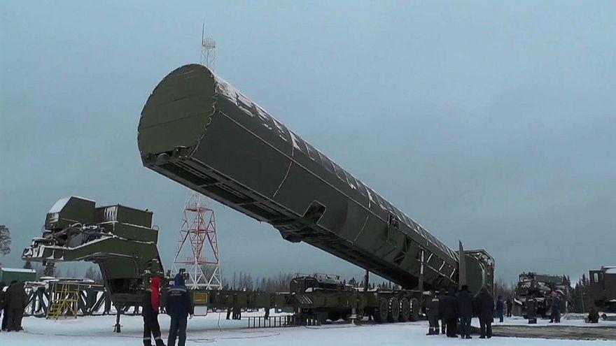 صاروخ سارمات الروسي (الشيطان 2 بحسب تسمية منظمة حلف شمال الأطلسي)