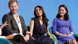 Harry, Meghan und Prinzessin Kate beim Royal Foundation Forum in London