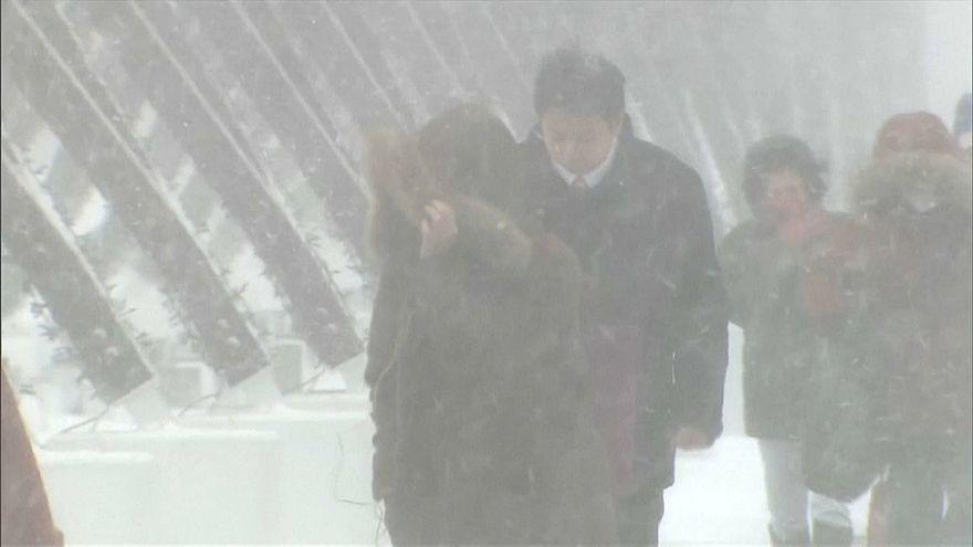 Schneemassen auf Hokkaido