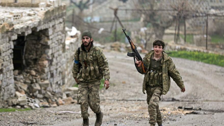 نیروهای ارتش آزاد سوریه تحت حمایت ترکیه در شهر عفرین