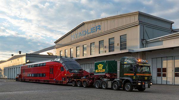 شرکت قطارسازی «اشتدلر ریل» در تورگاو، واقع در شمال سوئیس