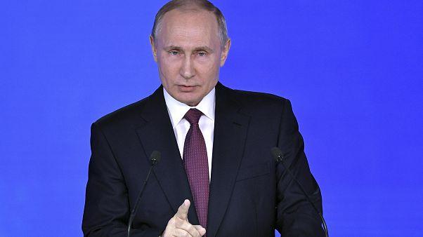 Putin bei seiner Rede zur Lage der Nation